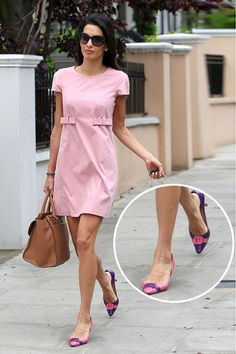 I need to keep an eye out for cute flats now that my day consists of mommy time & errands. Amal Alamuddin's shoes are gorgeous!