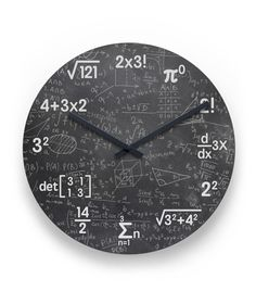 Mathematics Clock Wall - Home Decor Science Bedroom, Math Clock, Wall Clock Design, Clock Wall, Unusual Clocks, Love Math, Math Humor, Diy Clock, Diy Wall Decor