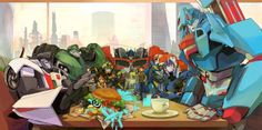 Team Prime out to lunch - art by beroberob on DeviantArt
