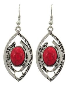 Checkout our #arrascreations product Trendy Fashion Antique Silver Coral Stone Earring / AZERVR854-ARD. Buy now at http://www.arrascreations.com/trendy-fashion-antique-silver-coral-stone-earring-azervr854-ard.html