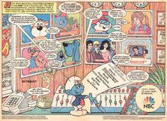 NBC Saturday Morning Cartoon Lineup Comic Book Ad (1986)