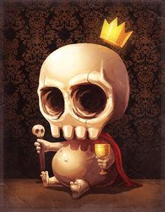 Pop Surrealism – illustrations by Mike Mitchell Mike Mitchell, Tatto Skull, Skull Art, Illustrations, Art And Illustration, Skeleton King, Lapin Art, Character Design Cartoon, Desenho Tattoo
