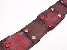 Vampire leather cuff blood  jewelry gothic by BloodVampireShop