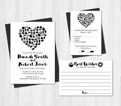 Star Wars Wedding Invitation Printable Set by SweetTeaAndACactus