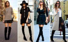Quando optar pelas saias, prefira as mais soltinhas e/ou rodadas, essas são a melhor opção para looks extremamente femininos e sexy.