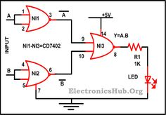 How to Build AND Gate using NOR Gate? For more information, visit http://www.electronicshub.org/construction-of-basic-logic-gates-using-nor-gate/