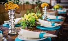 Decoração de Casamento : Paleta de Cores Azul Tiffany e Amarelo