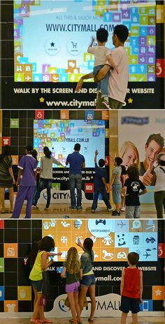CityMall Interactive Window #Interactive #Vitrines