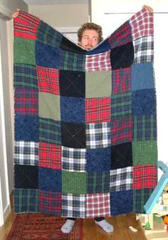 denim quilts patterns - Make a recycled jean denim quilt, see how ...