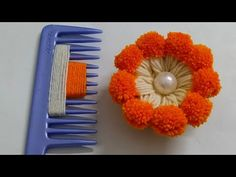 Super Easy Woolen Flower making with Hair Comb   Easy Hand Embroidery Flower   Sewing Hack - YouTube Sewing Hacks, Sewing Tutorials, Tutorial Sewing, Woolen Flower, Hand Embroidery Flowers, Finger Knitting, Christmas Cross, Flower Tutorial, Flower Making
