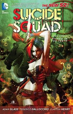 Suicide Squad Vol. 1: Kicked in the Teeth (The New 52) by Adam Glass http://www.amazon.de/dp/1401235441/ref=cm_sw_r_pi_dp_7U8bxb1R8A414