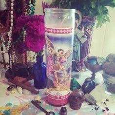 Saint Michael Candle & Oil Set-Protection,Evil Eye,Luck, Success