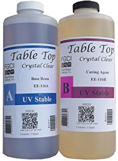 Epoxy Table Top Resin, 2 Quart Kit, Crystal Clear, Self Leveling, UV Resist. Epoxy Table Top, Epoxy Resin Table, Clear Epoxy Resin, Wood Resin, Resin Art, Resin Crafts, Wood Crafts, Resin Countertops, Resin Furniture