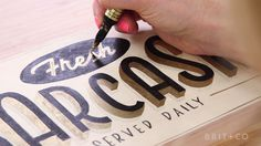 Watch this to learn about Brit + Co's Vintage Sign Lettering online class