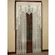 pretty lace curtains