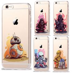 RuiC Star Wars Characters KyloRen BB-8 Phone Cases For iPhone 7 7Plus 6 6S Plus 5 5S SE Soft TPU Silicone Case Cover Coque Shell