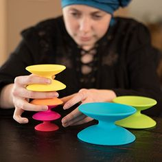 Fat Brain Toys Spoolz Stacking Toy, #Ad #Toys, #Brain, #Fat, #Toy