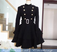 black coat wool coat winter coat spring autumn coat warm coat women clothing women coat long coat jacket outerwear dress