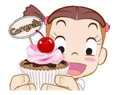 LINE Official Stickers - Jumbooka Special Bakery Love Example with GIF Animation Family Stickers, Love Stickers, Sanrio Characters, Cute Characters, Exam Good Luck Quotes, Gifs, Black And White Chickens, Cute Birthday Wishes, Happy Gif