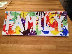 Family handprint banner. Cute idea... - http://www.oroscopointernazionaleblog.com/family-handprint-banner-cute-idea/
