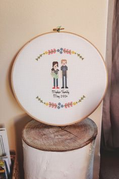 ilovelamp: Woolf & Cotton Cross stitch family portrait