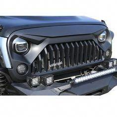 Safaripal Jeep Wrangler Gladiator Angry Front Grille Grill for 2007 - 2017 Jeep Wrangler Rubicon Sahara Sports Jk Black #VWAmarok
