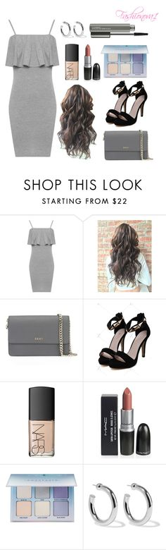 """""""Lost in the thrill of it all"""" by fashionova1 ❤ liked on Polyvore featuring WearAll, DKNY, NARS Cosmetics, Anastasia Beverly Hills, Sophie Buhai and MAC Cosmetics"""
