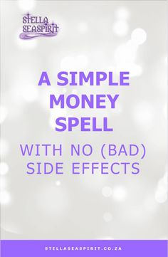 Simple Money Spell No Side Effects Spells That Actually Work, Money Spells That Work, Love Spell That Work, Jar Spells, Luck Spells, Candle Spells, Witchcraft Spells, Wiccan Witch, Need Money