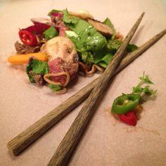 Mine matskriblerier: Nudelwok med kjøtt og grønnsaker