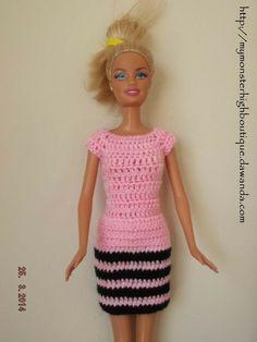 Vestido para Barbie BB100 de My Monster High boutique por DaWanda.com