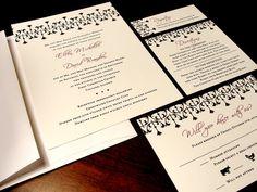 Striking and Sharp Custom Color Wedding Invitation