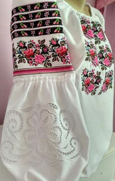 Beautiful embroidered blouse Ukrainian style blouse with rishelie technique Vyshyvanka blouse Flower embroidery shirt Folk ethnic clothing Shirt Embroidery, Embroidery Fashion, Hand Embroidery Designs, Embroidered Blouse, Denim Kurti, Kurti Designs Party Wear, Mexican Dresses, Folk Fashion, Beautiful Dresses