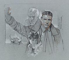 Blade Runner - pencil art by Drew Struzan