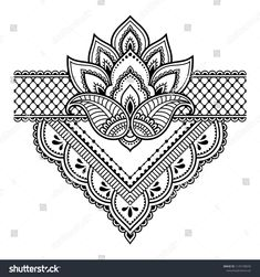 Mehndi flower pattern for Henna drawing and tattoo. Decoration in ethnic oriental, Indian style. - - Archivio Fotografico - Mehndi flower pattern for Henna drawing and tattoo. Decoration in ethnic oriental, Indian style. Mehndi Drawing, Henna Drawings, Mandala Drawing, Henna Tatoo, Henna Art, Henna Mehndi, Mehndi Art Designs, Henna Tattoo Designs, Mandala Tattoo Design