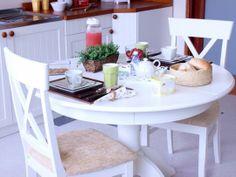 Mesa Redonda Tea - Branco Laqueado
