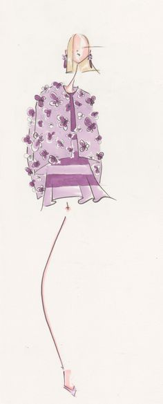 Purple Flower Dream, by Jenny M Walton, Markers and Microns
