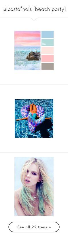 """julcosta*hols [beach party]"" by zaiee on Polyvore featuring people, hair, pictures, swimwear, bikinis, bikini tops, swim suit tops, halterneck bikinis, halter neck bikini top and halter bikini"