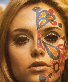 Face n body paint là 1 trào lưu trong giới hippe vào 1960s