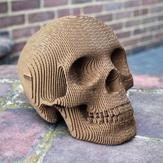 You Can Own Your Very Own Cardboard Skull Just Like This!
