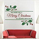 Christmas Wall Art Wall Decals Quotes-we wish you a merry christmas and a happy new year-Vinyl Wall Stickers for... christmas deals week