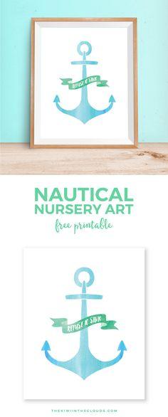 anchor free printable wall art