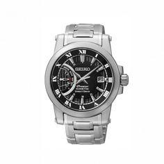 SRG009P1 Ανδρικό Kinetic ρολόι SEIKO Premier μαύρο καντράν και μπρασελέ.  Διαθέτει λειτουργία κίνησης Direct Drive για την ένδειξη της ενέργειας   Seiko ... 9c6d80aafc8