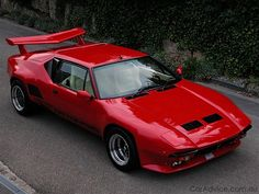 De Tomaso Pantera GT5-S  Italian exotic powered by a Ford 351 Cleveland engine. Italian - American muscle.  -One of the most beautiful cars imo