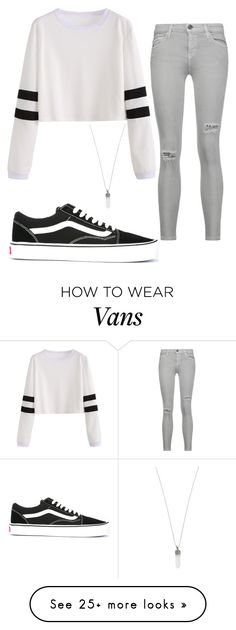 """loving the vans."" by punkwear101 on Polyvore featuring Vans, Current/Elliott and Marc Jacobs"