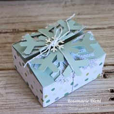 Here's a box and gift cards made with the November Paper Pumpkin Kit.