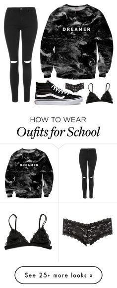 """""""Back To School"""" by sheridan-kelly on Polyvore featuring Mr. Gugu & Miss Go, Topshop, Vans and Charlotte Russe"""