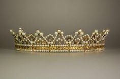 Diadem, c. 1829 - belonged to Stéphanie de Beauharnais, first cousin, once removed, of Empress Josephine's first husband; adopted and raised to imperial rank by Napoleon.  Consort of Karl, Grand Duke of Baden, and ancestress of the former Kings of Romania and former King of Yugoslavia, the present King of the Belgians, the present Grand Duke of Luxembourg and the present Sovereign Prince of Monaco.