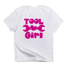Tool Girl with a spanner Infant T-Shirt on CafePress.com