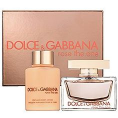 ROSE THE ONE by Dolce  Gabbana Gift Set for WOMEN: EAU DE PARFUM SPRAY 1.6 OZ  BODY LOTION 3.3 OZ - Listing price: $72.00 Now: $65.49