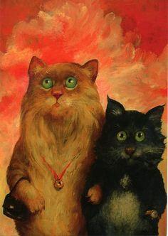 Rudi Hurzlmeier - Mom and baby cat go shopping